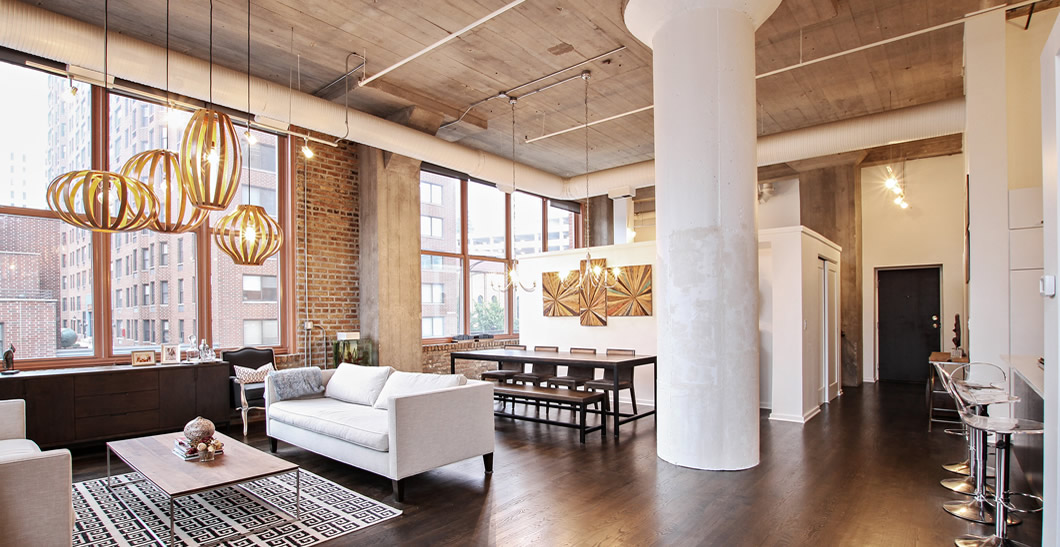 Contemporary Lofts 360 w illinois unit 2a | modern chicago homes